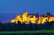 Carcassonne Prints - La Cite Carcassonne Print by Brian Jannsen