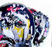 Mixed Media Collages Prints - Labrador  Print by Brian Buckley