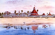 Hotel Del Coronado Framed Prints - Lady Del Framed Print by John Yato