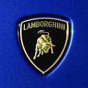 Images Of Cars Prints - Lamborghini Emblem Print by Jill Reger