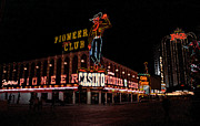 Glitter Gulch Framed Prints - Las Vegas with Watercolor Effect Framed Print by Frank Romeo
