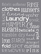 Wall Art Prints Digital Art Metal Prints - Laundry Room Metal Print by Jaime Friedman