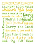 Subway Art Framed Prints - Laundry Room Rules Poster Framed Print by Jaime Friedman