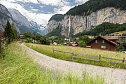 Landscape Photograpy Framed Prints - Lauterbrunnen Valley Framed Print by Mark Monckton