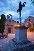 Provence Photos - Les Baux Iron Cross by Brian Jannsen
