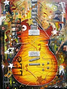 Rock N Roll Paintings - LES is More by Karrin Melo