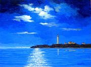 Serenity Scenes Paintings - Light  Keeper  by Shasta Eone
