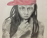 Lil Wayne Drawings Prints - Lil Wayne Print by Michael Durocher