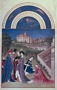 Limburg Metal Prints - Limbourg, Jean Ca. 1370-1416 Limbourg Metal Print by Everett