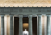 Abraham Lincoln Framed Prints - Lincoln Memorial Framed Print by John Greim