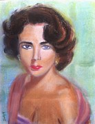 Movie Actress Pastels - Liz by Judy Kay