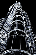 London England  Digital Art - Lloyds Building London art by David Pyatt