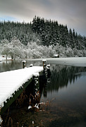 Snow Scene Framed Prints - Loch Ard Winter Scene Framed Print by Grant Glendinning