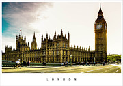 London Pyrography Prints - London Print by Anusha Hewage