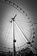 Ferris Wheel Posters - London Eye  Poster by Elena Elisseeva