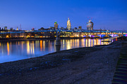 London Scenes Prints - London Thames Bridges Print by David French