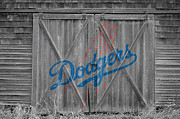 Baseball Glove Posters - Los Angeles Dodgers Poster by Joe Hamilton