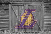 Nba Framed Prints - Los Angeles Lakers Framed Print by Joe Hamilton