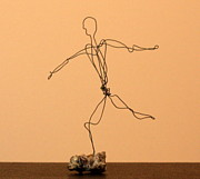 Jumping Sculptures - Man Jumpimg by Mel Drucker