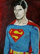 Krypton Framed Prints - Man Of Steel Framed Print by Jeremy Moore