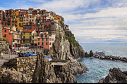 Rocks Photo Framed Prints - Manarola Framed Print by Joana Kruse