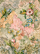 Floral Drawings - Marble end paper  by William Kilburn