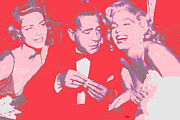Humphrey Paintings - Marilyn Monroe Lauren Bacall Humphrey Bogart How To Marry A Millionaire Premiere November 4 1953 by Douglas MooreZart