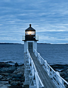 Maine Lighthouses Photo Posters - Marshall Point Light Poster by John Greim