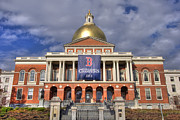 Red Sox Photo Posters - Massachusetts State House Poster by Joann Vitali
