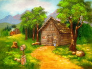 Rustic Realism Art - Meeting  Adjourned  by Shasta Eone