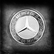 Mercedes Benz. Metal Prints - Mercedes-Benz 6.3 AMG Gullwing Emblem Metal Print by Jill Reger