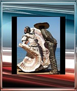 Mexican Dancing Prints - Mexico Print by Athala Carole Bruckner