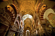 Sculptured Posters - Mezquita Cathedral Interior in Cordoba Poster by Artur Bogacki