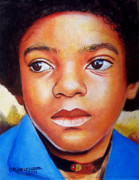 Photorealism Prints - Michael Jackson Print by Cheryl Riley