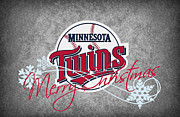Baseball Bat Posters - Minnesota Twins Poster by Joe Hamilton