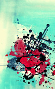 Aged Art Collage Prints - Mixed media abstract Print by Gordan Poropat