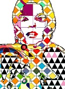 Super Star Mixed Media Prints - Model Print by Bogdan Floridana Oana