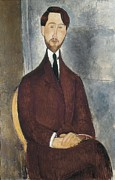 Amedeo Photo Framed Prints - Modigliani, Amedeo 1884-1920. Portrait Framed Print by Everett