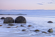 Moeraki Boulders  Posters - Moeraki Boulders Otago New Zealand Poster by Colin and Linda McKie