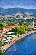 Sunny Art - Molyvos beach by George Atsametakis