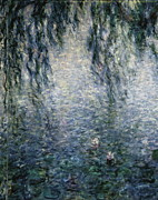 Eure Metal Prints - Monet, Claude 1840-1926. Waterlilies Metal Print by Everett