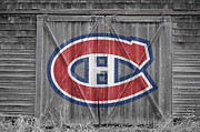 Puck Framed Prints - Montreal Canadiens Framed Print by Joe Hamilton