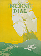 Yellow Green Blue Prints - Morse Dry Dock Dial Print by Edward Hopper