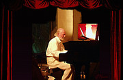 Jazz Singers Framed Prints - Mose Allison Framed Print by Ellen Henneke