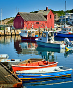Rockport Prints - Motif Number One Rockport Lobster Shack Maritime Print by Jon Holiday