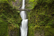 Columbia River Gorge Prints - Multnomah Falls Print by Andrew Soundarajan