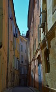 France Doors Prints - Narrow street in Aix en Provence Print by Dany Lison