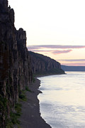 Ocean Cliff Prints - Nature Park Lenskie Stolby Scenic Print by Anonymous