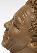 Portrait Sculpture Originals - Nelson Mandela  by Greg Norman
