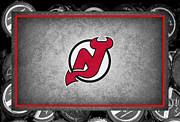 Puck Framed Prints - New Jersey Devils Framed Print by Joe Hamilton